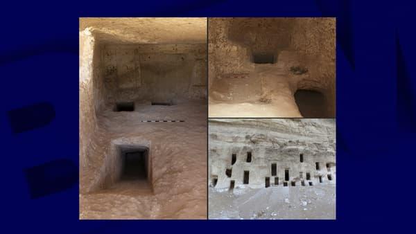 Vue de l'intérieur des tombeaux