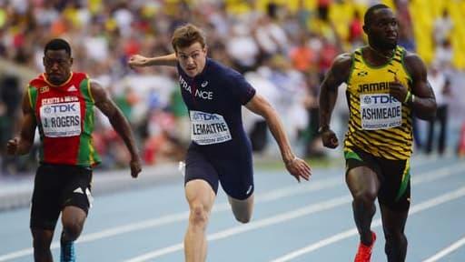 Le Français Christophe Lemaitre s'est qualifié dimanche pour la finale du 100 m messieurs des Championnats du monde d'athlétisme de Moscou le 11 août 2013.