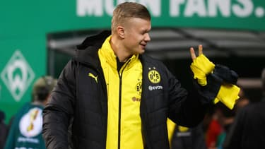 Erling Haaland lors du match Werder Brême-Borussia Dortmund, le 4 février 2020