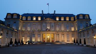 Le palais de l'Elysée, le 10 mars 2021 à Paris