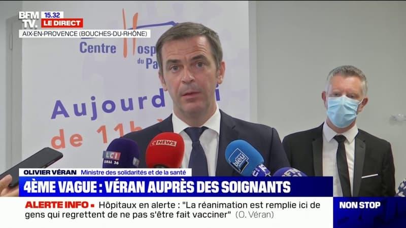 """Olivier Véran: """"65% de la population générale a reçu au moins une dose de vaccin en France"""""""