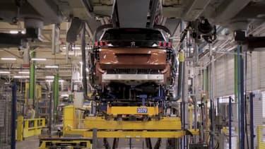 La production du Peugeot 3008 à Sochaux (Doubs).