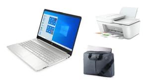Le pack PC Portable HP 15S-FQ1036NF en promotion chez Cdiscount