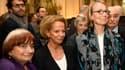 La réalisatrice Agnès Varda, la présidente du CNC Frédérique Bredin et la ministre de la culture Françoise Nyssen