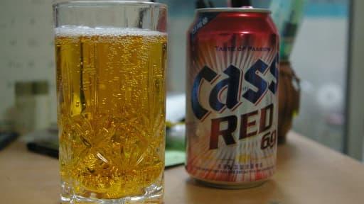 Les bières Cass et OB, du groupe Oriental Brewery, sont parmi les plus vendues en Corée du Sud.