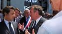 Nicolas Sarkozy a mis à profit l'inauguration d'une usine de turbines d'hélicoptères à Bordes, près de Pau, pour vanter sur les terres de François Bayrou les bienfaits du dialogue entre adversaires. /Photo prise le 22 juin 2010/REUTERS/Philippe Wojazer