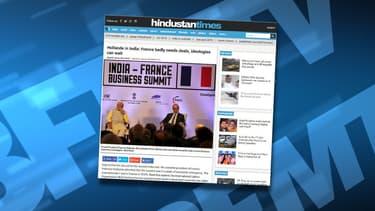 """L'édito du journal indien Hindustan Times sur le """"besoin de la France de conclure des marchés""""."""