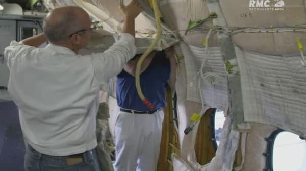 Les sacs d'isolation présents dans le fuselage