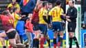 Les joueurs espagnols s'en prennent à l'arbitre