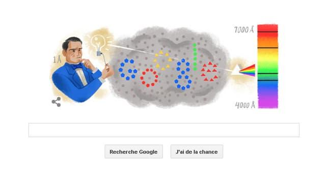 Google consacre son doodle du jour à Anders Jonas Angström.