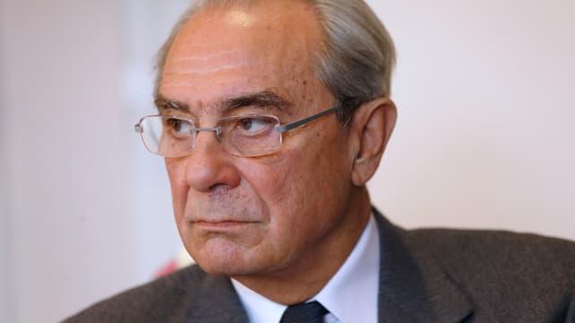 L'ancien ministre Bernard Debré, photographié en décembre 2013 à Paris.