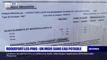 Roquefort-les-Pins: les habitants privés d'eau potable depuis près d'un mois