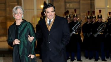 Penelope et François Fillon le 2 mars 2011.