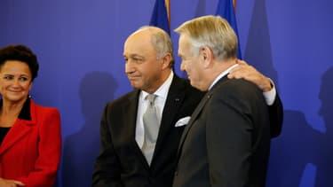 Laurent Fabius et Jean-Marc Ayrault, le 12 février.