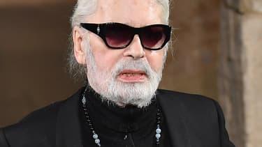 Le couturier Karl Lagerfeld en décembre 2018 à New York.