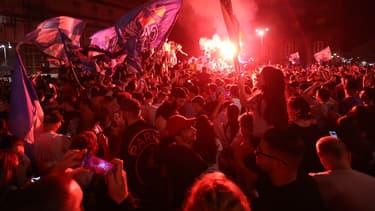 Les supporters de Naples ont fêté le titre en Coupe d'Italie