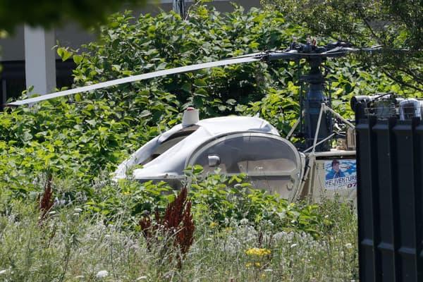 L'hélicoptère dans lequel s'est échappé Redoine Faïd retrouvé incendié.