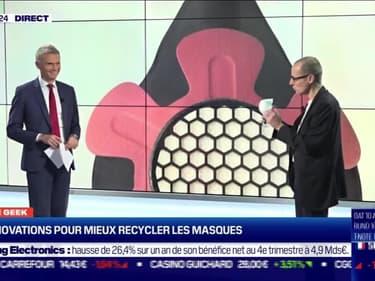 Culture Geek : Des innovations pour mieux recycler les masques, par Anthony Morel - 28/01