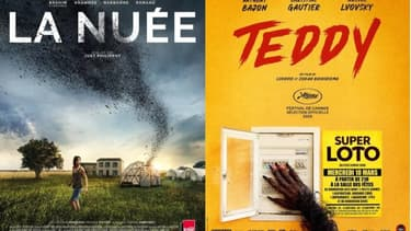 """Les affiches de """"La Nuée"""" et de """"Teddy"""""""