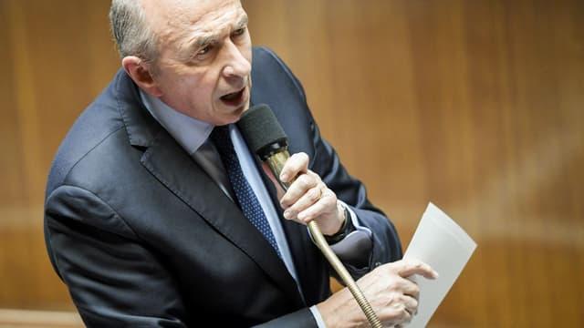 Gérard Collomb, le ministre de l'Intérieur, à l'Assemblée le 10 Avril 2018.
