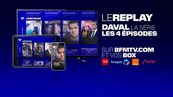 """""""Daval, la série"""" est disponible en replay sur les box et sur BFMTV.com"""