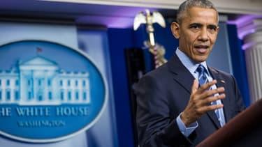 Barack Obama, le 16 décembre 2016,  à la Maison Blanche.