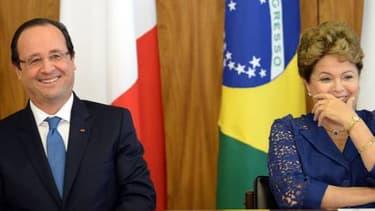 """François Hollande et Dilma Roussef ont évoqué """"des liens de confiance"""" entre les deux pays."""