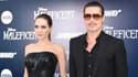 """Brad Pitt et Angelina Jolie mercredi soir, avant la première de """"Maléfique"""", le dernier film avec Angelina Jolie."""