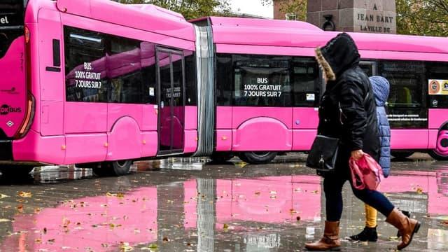 Un bus du réseau de transport gratuit de Dunkerque, en octobre 2018