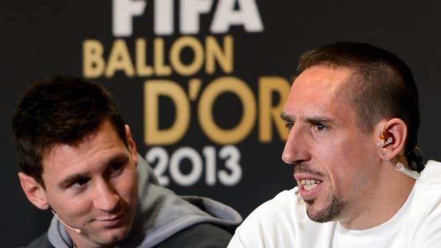 Lionel Messi et Franck Ribéry