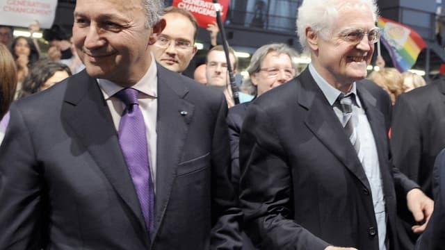 Laurent Fabius et Lionel Jospin ensemble lors de la primaire PS de 2011 qui sacrera François Hollande. Seul le premier était candidat.