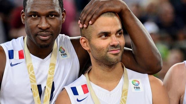 Florent Pietrus et Tony Parker, champions d'Europe !