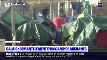 Calais: démantèlement d'un vaste campement de migrants