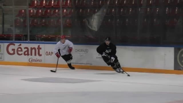 Les Rapaces de Gap, l'équipe de hockey de la préfecture haut-alpine, à l'entrainement à l'Alp Arena