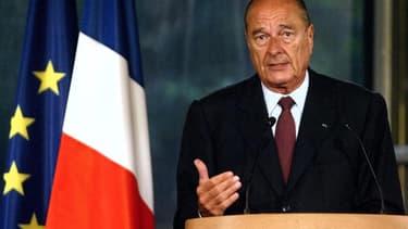 Jacques Chirac s'exprime en 2003 à l'Elysée à propos de la situation en Irak