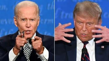Donald Trump et Joe Biden lors de leur premier débat présidentiel, le 29 septembre 2020 à Cleveland