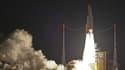 Le lancement de la fusée Ariane 5 ES, avec à son bord l'ATV-5, en direction de l'ISS, le 29 juillet 2014.