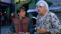 """Michael J Fox et Christophe Lloyd dans """"Retour vers le futur"""", en 1985."""