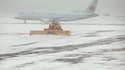 Un avion de Air canada pris dans la neige. (Photo d'illustration)