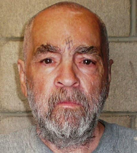 Photo fournie le 18 mars 2009 par la prison californienne de Corcoran du tueur Charles Manson