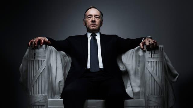 """Kevin Spacey dans la série """"House of cards"""" de Netflix."""