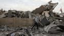 Les ruines du QG du Hamas, touché par une frappe aérienne israélienne.