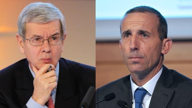 Philippe Varin (à gauche) devient le président du conseil d'administration d'Areva tandis que Philippe Knoche (à droite) prend la fonction de directeur général.
