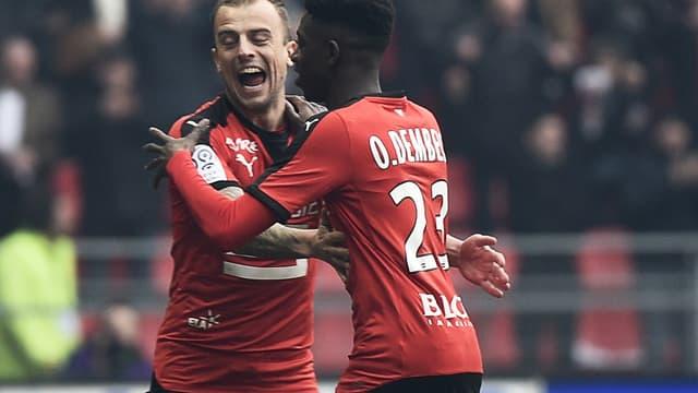 Kamil Grosicki et Ousmane Dembélé
