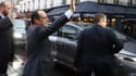 """François Hollande le 15 janvier à Paris, après une visite au forum """"La France s'engage""""."""