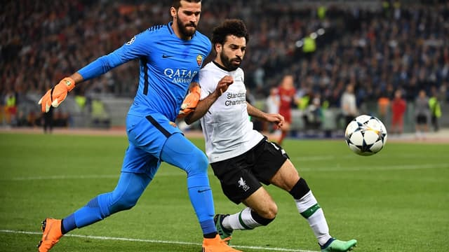 Alisson Becker et Mohamed Salah