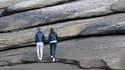 Un couple à Trégastel, dans les Côtes-d'Armor, le 9 mars 2021 (photo d'illustration)