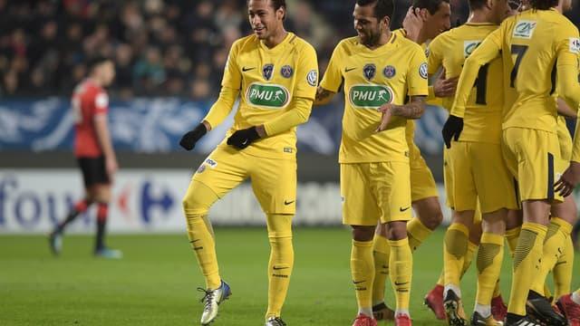 Neymar et les Parisiens en Coupe de France