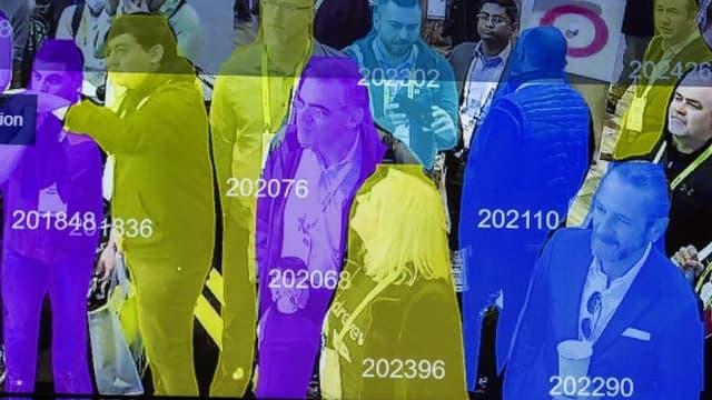 Une démonstration de reconnaissance faciale lors de l'exposition Horizon Robotics au Las Vegas Convention Center lors de la CES 2019 à Las Vegas, le 10 janvier 2019