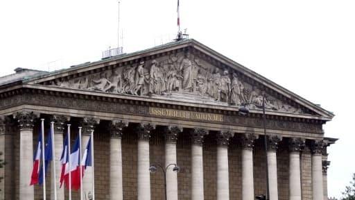 L'Assemblée nationale où sera soumise au vote des députés la motion de censure de l'UMP, le 20 mars 2013